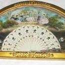 c1870 Duvelleroy Mother of Pearl Hand Painted French France Fan