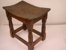 Robert (Mouseman) Thompson English Oak Foot Stool