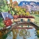 1930s French Impressionism oil painting on canvas