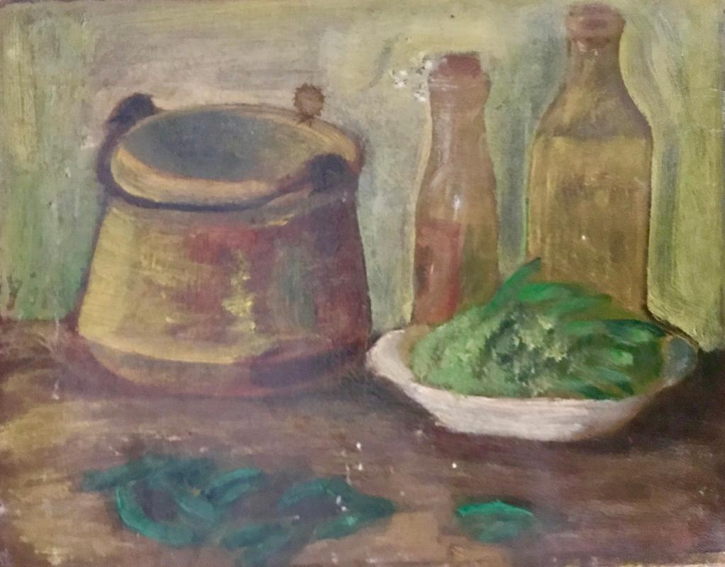 1920s French Still life oil painting on canvas