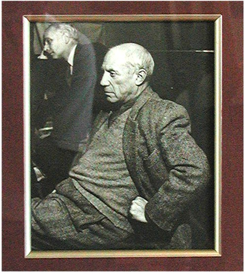 RARE PICASSO Photograph B&W  1950 by HENRY RIES
