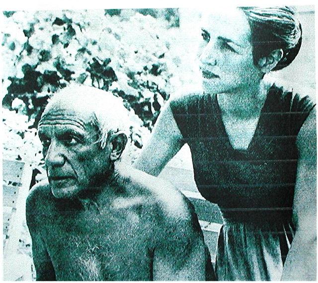 PICASSO * FRANCOISE GILOT. Rare 1967 Zinc Plate