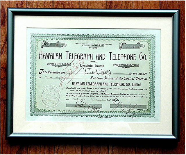 Hawaiian Telephone & Telegraph Co.  1 of 12 Known