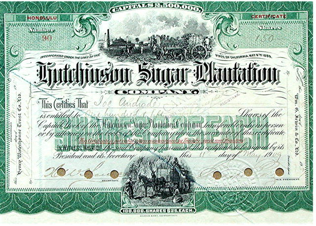 Hutchinson Sugar Plantation 1909 Honolulu, Hawaii