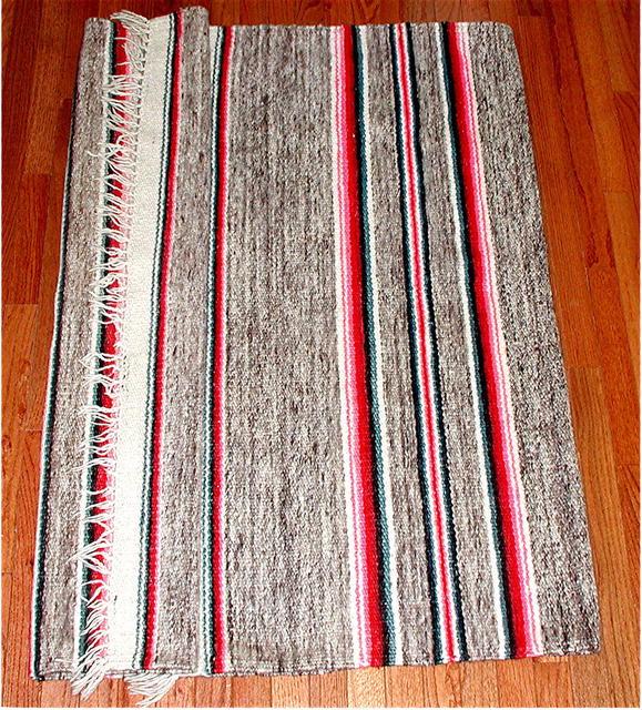 PERU.  Vintage Alpaca Textile Rug.