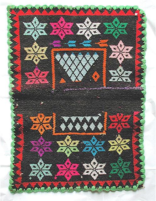 BOLIVIA.  Cerimonial Llama Blanket, Crochet