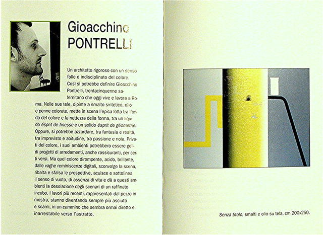 CATALOG. MODERN ITALIAN ARTISTS. STUDIOS