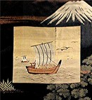 JAPANESE SILK PAINTING.  19th  CENTURY