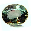 RARE GREEN 3 CARAT TOURMALINE  14k Yellow Gold