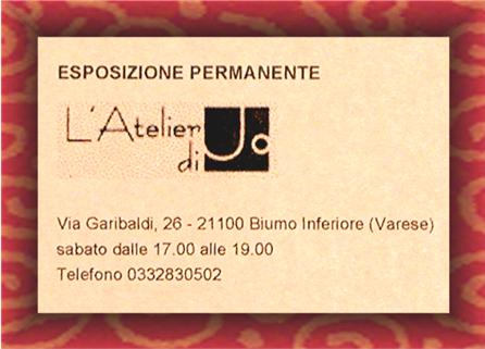 GRAND OPENING * LUCA GHIELMI  * L'  Atelier di Jo.  Galleria, Varese