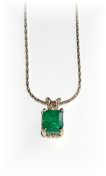 2.18  CARAT  * Colombian Emerald Pendant