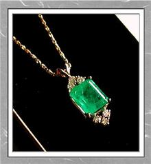6.50  CARAT * EMERALD. DIAMOND PENDANT