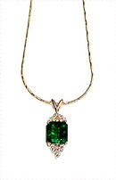 EMERALD PENDANT  2.55 Ct.  COLOMBIAN DARK. WHITE DIAMONDS  * CERTIFIED