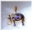 TANZANITE.  DIAMOND.  14K  GOLD  * Asian Icon