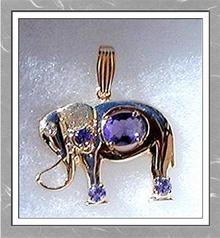 TANZANITE * DIAMOND PENDANTS