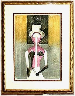 RUFINO TAMAYO * Rarest Tamayo Lithograph. Atelier Archives