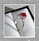 RUBY 1.25 CARAT  CERTIFIED * DIAMOND RING