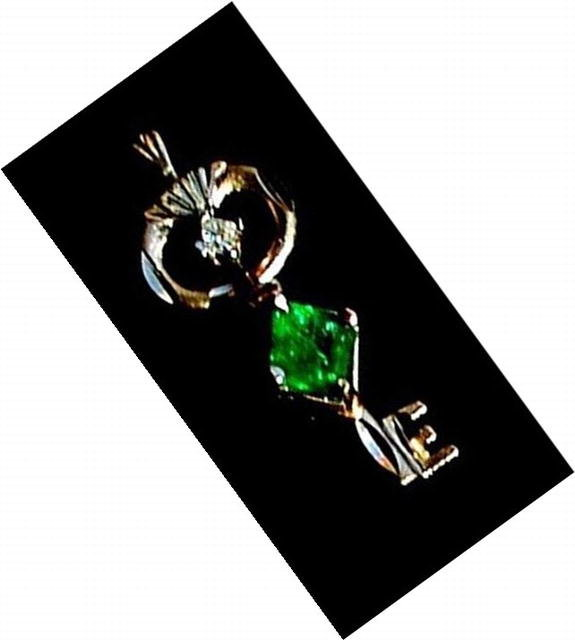 EMERALD  *  Diamond  Pendant