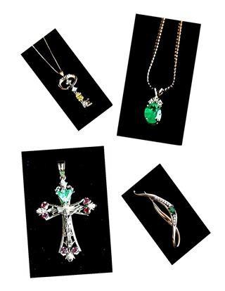 CANARY YELLOW DIAMOND *  EMERALD * RUBY *  TANZANITE.  Vaulted Gems. Estate Designer Jewelry