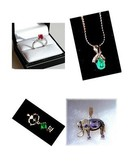 CANARY YELLOW DIAMOND *  EMERALD * RUBY *  TANZANITE.  Vaulted Gems. Estate Designer Jewelry