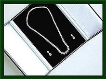 DIAMOND NECKLACE.  Custom Diamond Drop Earring Set