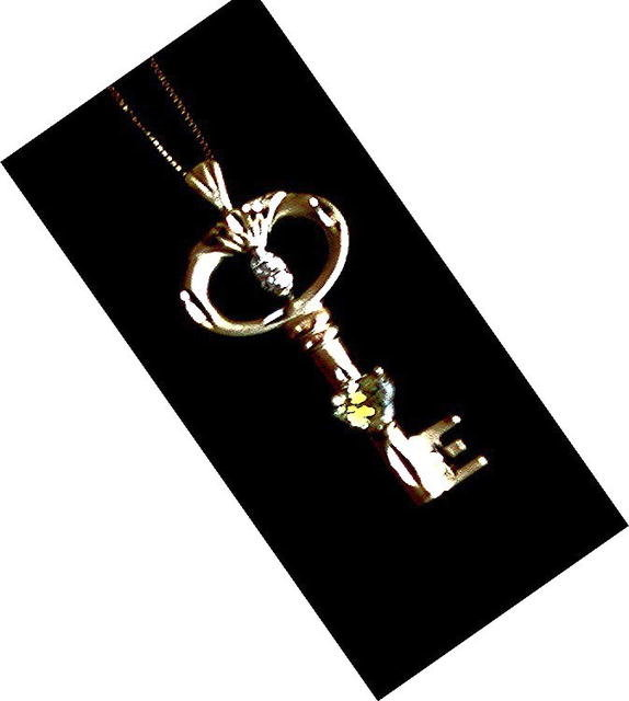 CANARY YELLOW DIAMOND  Key Pendant