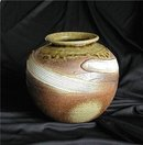 JAPAN  *  Earthenware Signed Studio Vase