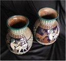 CZECH AMPHORA  * Rare Campina Signed Matched
