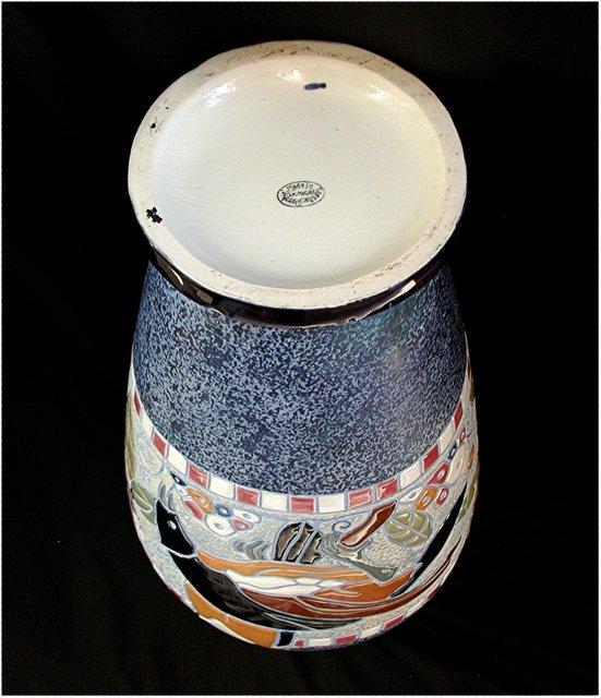 CZECH  AMPHORA. TROPIC SERIES   Circa 1930's   *  $  745.