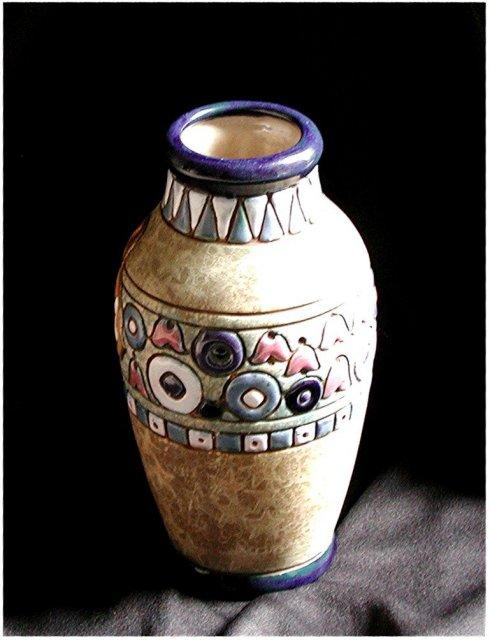 CZECH  AMPHORA  Chicks  Vase , Circa 1930's