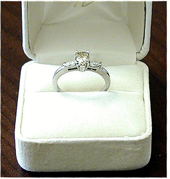 CHAMPAGNE DIAMOND RING  *  Pear Cut Designer Custom