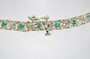 EMERALD BRACELET  Ladies  1.00  Carat  Emerald & Diamond Setting,  Solid Yellow Gold  $ 352.50