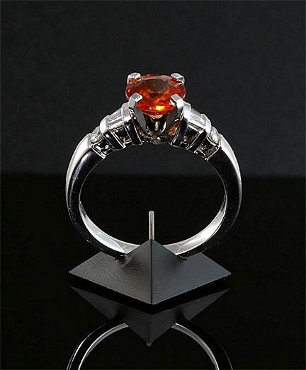 PADPARADSCHA  SRI LANKA  SAPPHIRES    GIA Certified Gems,   14k  & 18k  White Gold  Custom Diamond Settings