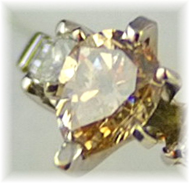 Fancy Yellow Diamond  Pear Cut  Ring, 14k  White Gold, Certified,  on Reserve  $ 2500