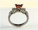 SHOWCASE Exceedingly Rare ! PADPARADSCHA  SAPPHIRE Genuine Sri Lanka Origin,  Rarest Color Sapphire  14k & 18k  Diamond Presentations  * G.I.A.