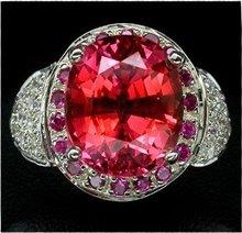 FANCY ORANGE PINK SAPPHIRE,  Padparadscha Color Gem Stone,  Fashion Ring