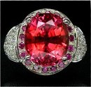 FANCY ORANGE PINK SAPPHIRE,  Padparadscha Color Gem Stone,  Fashion Ring