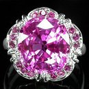 PRESTIGEOUS  AAA  PINK TOPAZ & RUBY  Fashion Ring, New Listings from The Gem Show