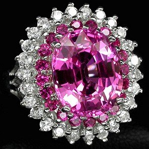Hot Pink !  Blazing Colors,   Fancy  Sapphire Fashion Ring