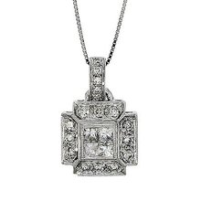 .60 Carat  White Diamond Pendant, 14k White Gold,   G.I.A