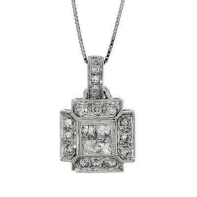 .60 Carat  White Diamond Pendant, 14k White Gold,   G.I.A