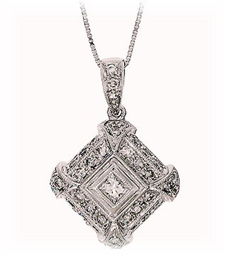 .40 Carat  White Diamond Pendant, 14k  White Gold,  G.I.A.