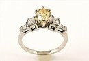 YELLOW  DIAMOND RING  1.80  CARATS   on  OPEN RESERVE  SPECIAL
