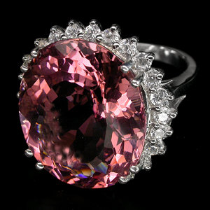 Morganite,  Hottest Gemstone of The Year !  Stunning Deep Rosa Pink  12  Carat  Beauty