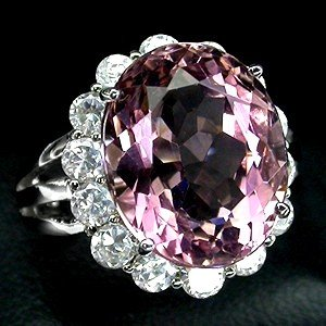 MORGANITE  Cor de Rosa Deep Pink Rose color premium Gemstone Rings. 8 to over 20 Carats !