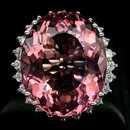 Luxuriously  Stunning 18 Carat ! Oval Cut  Strong Rosa Pink  Morganite,  Classic  Style Diamond Cut Surround, only $ 149.