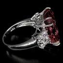 Pink Morganite, 15 Carats  AAA  Rare  Emerald Cut  Morganite Gemstone Ring