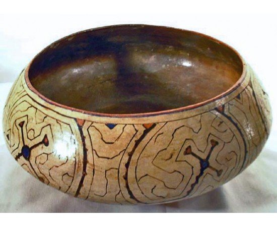 Peruvian Amazon Shipibo Culture Pottery Bowl