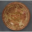 Antique Hispano-Moresque Copper Lustre Ceramic Bowl, 17th century