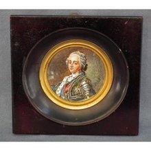 Antique Miniature Painting Portrait Army Commander in Armour